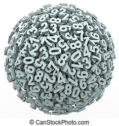piłka, liczba, kula, nauka, uważając, odliczający,...