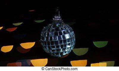 piłka, lights., zamazany, bokeh, tło, lustro