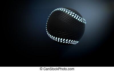 piłka, neon, futurystyczny, lekkoatletyka