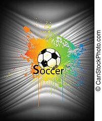piłka nożna, abstrakcyjny, wektor, ball., tło