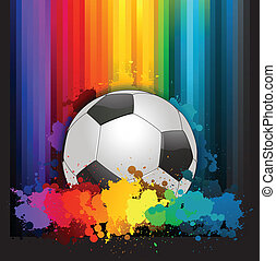 piłka nożna, barwny, tło