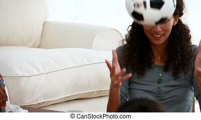 piłka nożna, interpretacja, rodzina dom