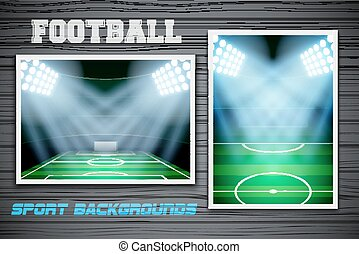 piłka nożna, komplet, tła, stadion