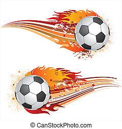 piłka nożna, płomienie