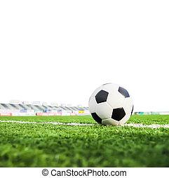 piłka nożna, trawa, zielony