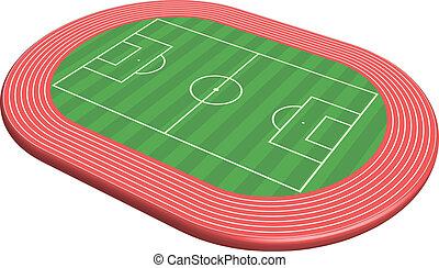 piłka nożna, wymiarowy, 3, smoła, pole