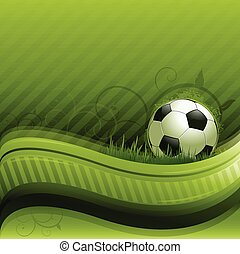 piłka nożna, zielone tło