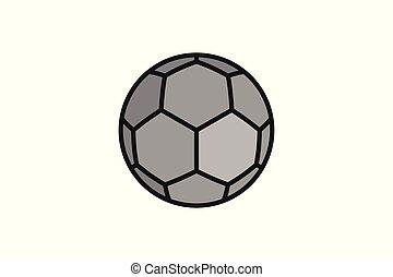 piłka, piłka nożna, tła, odizolowany, projektować, logo, biały, natchnienie