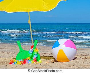 piłka, plaża, rakiety