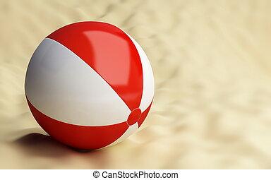 piłka, plaża