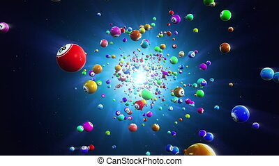 piłki, loteria, loopable, tło