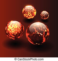 piłki, magma, tło