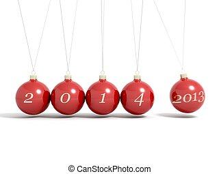 piłki, -, wigilia, rok, nowy, 2014, boże narodzenie, 2013