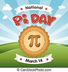 pi, dag, vakantie, maart, 14