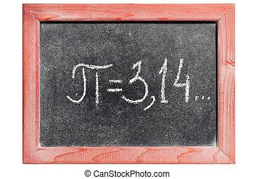 pi, handgeschrieben