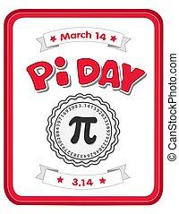 pi, jour, mars, 14, célébrer, math!
