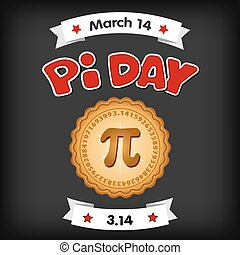 pi, jour, mars, 14, panneau craie