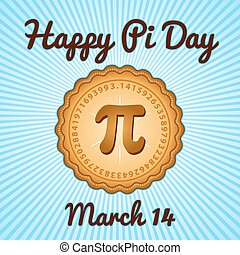pi, março, 14, dia, feriado, feliz