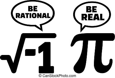 Pi math nerd comic be rational and be real