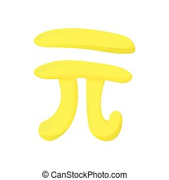 PI sign icon, cartoon style