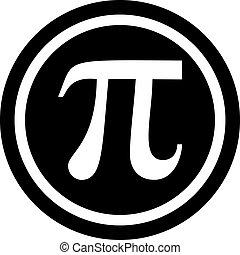 Pi symbol in circle