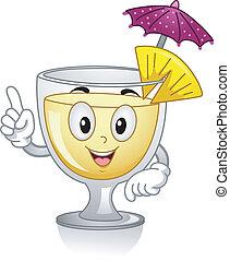 Pi?a Colada Mascot - Mascot Illustration Featuring a Pi?a...