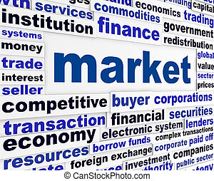 piac, kreatív, szavak, fogalom