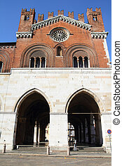 Piacenza, Italy - Emilia-Romagna region. Palazzo Communale, also known as Il Gotico.