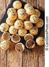 piah, tau, 縦, sar, 作られた, 上, ビスケット, 光景, mung 豆, 焼かれた, 満たされた, ...