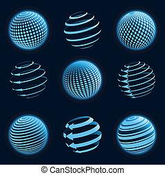 pianeta blu, icons.