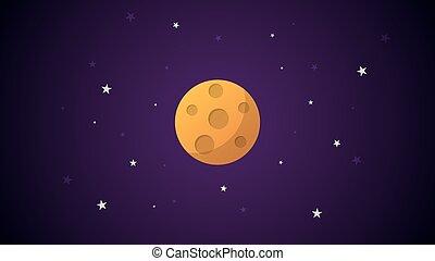 pianeta, cartone animato, craters.