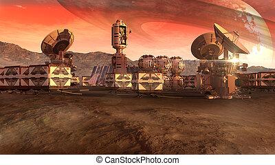pianeta, colonia, arido