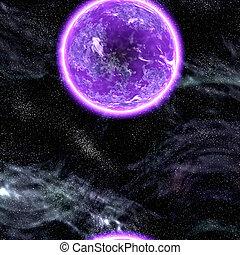 pianeta, cosmico, spazio