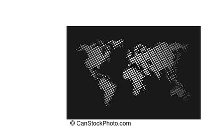 pianeta, elegante, mappa mondo