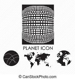 pianeta, icone