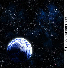 pianeta, in, spazio