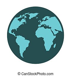 pianeta, mappa, icona