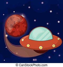 pianeta, marte, volare, ufo