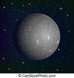 pianeta, mercurio, spazio