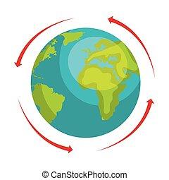 pianeta, mondo, terra, icona