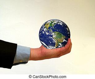 pianeta, presa a terra, terra