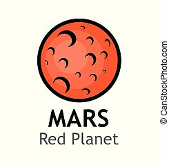 pianeta, -, rosso, marte