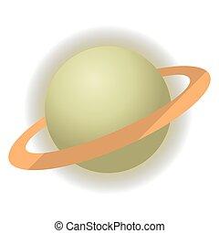 pianeta, saturno, icona
