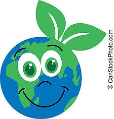 pianeta, verde, environ, ambiente