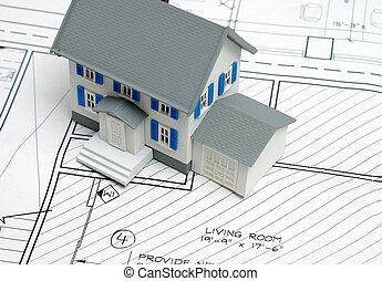 piani pavimento, a, casa nuova