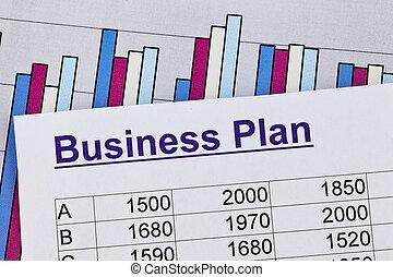 pianificazione, affari, ditta, giovane, establishment., entrepreneur., piano, o