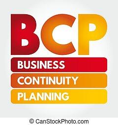 pianificazione, bcp, acronimo, continuità, affari, -