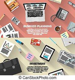 pianificazione, concetto, investimento, affari