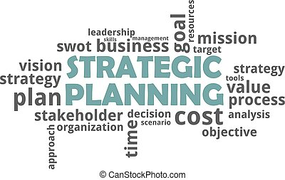 pianificazione, -, strategico, parola, nuvola