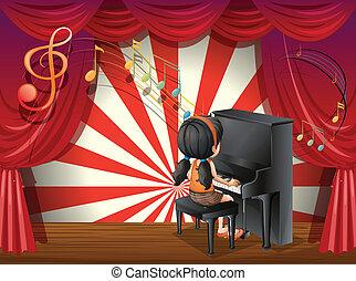 pianist, jonge